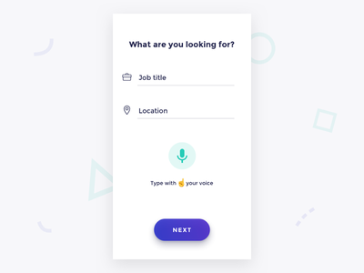 Quick Search search prototype mobile