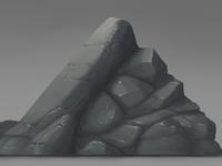 More stone