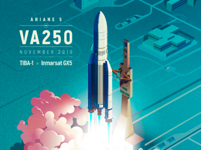 Ariane Space launch poster