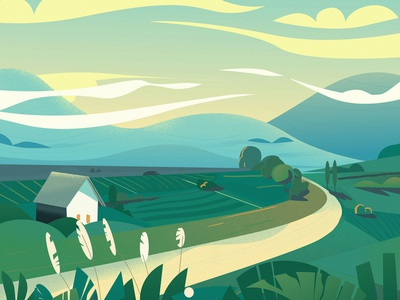 Landscape buenos aires argentina ilustraciones ilustracion illustration