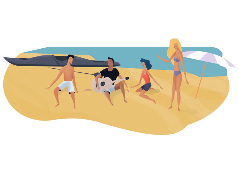 Popey social media popey add app beach ilustraciones ilustracion illustration