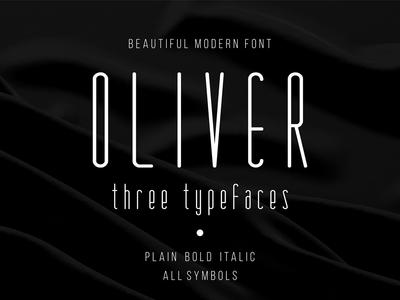 Oliver Beautiful Modern Font logo alphabet font awesome vintage retro font font design typography typeface modern font vintage font design calligraphy graphic font