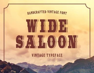 Wide Saloon - Vintage Typeface