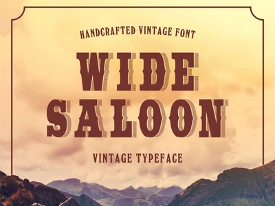 Wide Saloon - Vintage Typeface wild cowboy western retro fonts retro modern font graphic design vintage font vintage typography typeface retro font logo font design font awesome font calligraphy alphabet