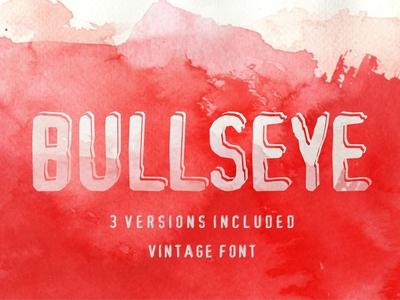 Bulls-eye - handcrafted vintage font