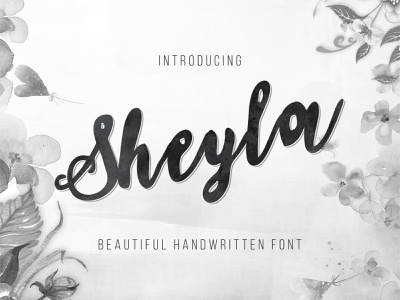 Sheyla - Beautiful Handwritten Font watercolor shadowed script handcrafted retro fonts retro graphic modern font design vintage font vintage typography typeface logo retro font font design font font awesome calligraphy alphabet