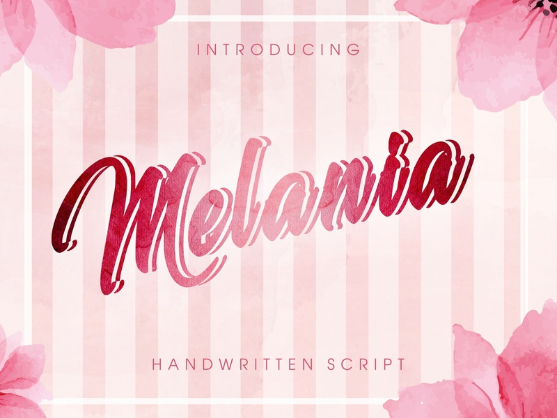 Melania - Handwritten Vintage Font vintage typeface retro watercolor shadowed script handcrafted retro fonts modern font vintage font vintage typography typeface retro font logo alphabet font design font awesome font calligraphy