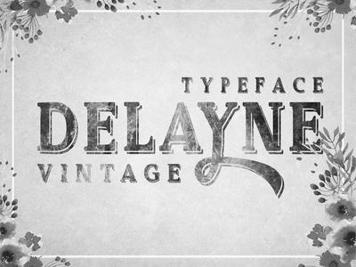 Delayne - Vintage Display Font With Ornamental Letters
