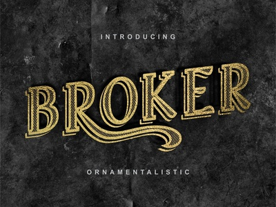 Broker - vintage typeface