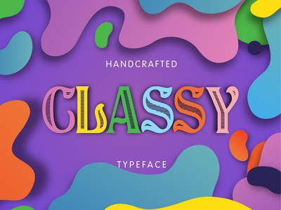 Classy - Handcrafted Vintage Typeface damaged vintage typeface script handcrafted design retro retro fonts modern font shadowed vintage font vintage typography typeface retro font logo font font design font awesome calligraphy alphabet