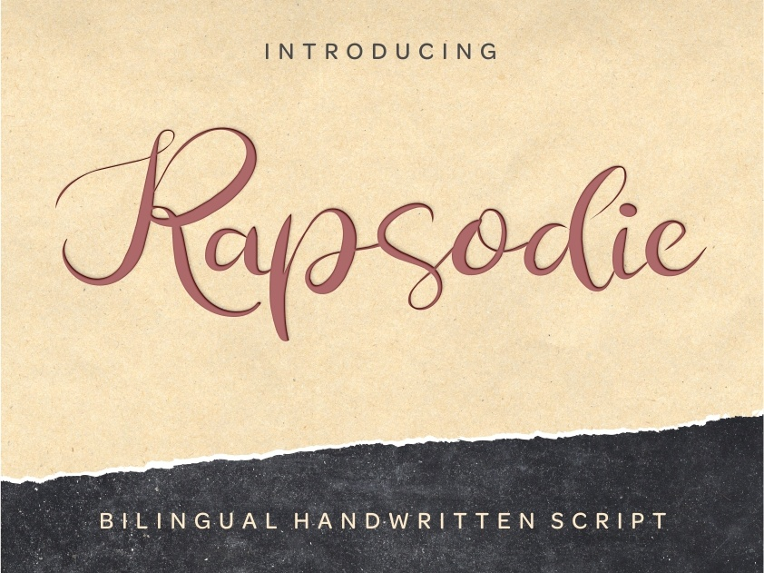 Rapsodie - Multilingual Script With English and Russian
