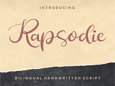 Rapsodie - Multilingual Script With English and Russian Letters logo retro vintage vintage typeface retro fonts modern font handwritten handcrafted retro font font design alphabet freeby free script vintage font typography typeface font font awesome calligraphy