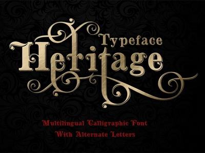 Heritage calligraphic typeface