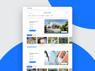 Travel Web App Design Concept