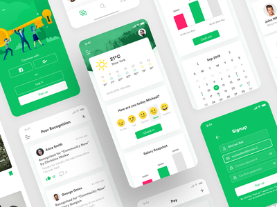 Employee Engagement App Design