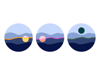 Richard Linklater's Before Trilogy flat vector design icon