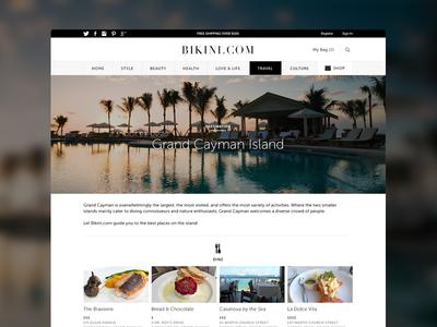 Bikini.com Redesign