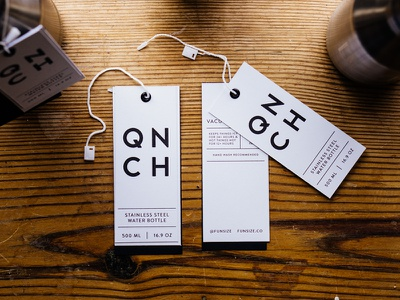 QNCH Hang Tags hang tags tags product packaging swag black white funsize bottle
