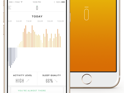 Personal Tracking App Concept concept fnsz funsize apps connected fitness light white ui graph data visualization