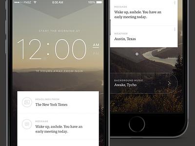 Mornings iPhone App funsize fnsz mornings alarm iphone