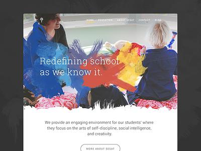 Sesat School Website school education website kids fnsz colorful watercolor playful web
