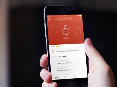 SimpliSafe home automation security iphone concept funsize ios
