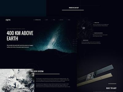 Iceye Conceptual Design marketing web satellite earth space fnsz funsize design