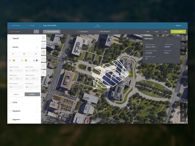 DroneSense Concept satellite map flight dashboard flat ui dronesense drones