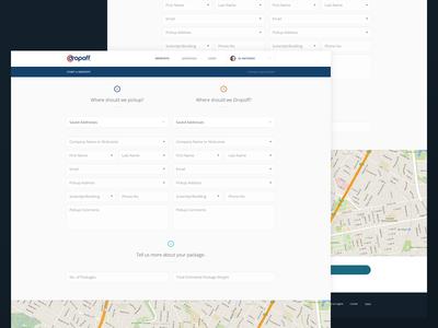 Dropoff Web App funsize forms map dashboard white web app