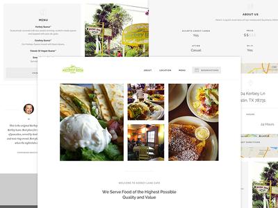 TableHero Canvas Template simple restaurants website web template funsize