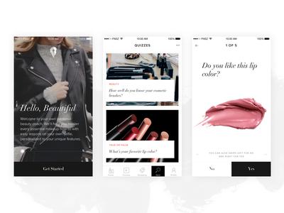 MapMyBeauty iPhone App concept funsize design app iphone beauty