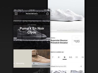 Random Shoe Co. Concept concept ios funsize minimal white black sneakerhead kicks shoes