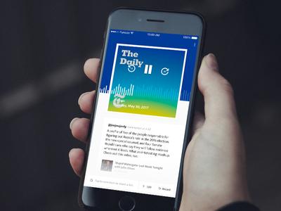 Banter iOS App Concept player concept ios funsize podcast banter