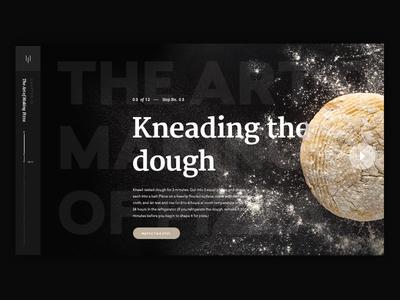 Typography + UI Explorations dough ui pizza typography