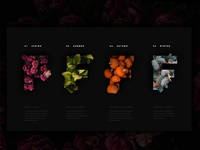 Typography Vignette: Seasons of Change