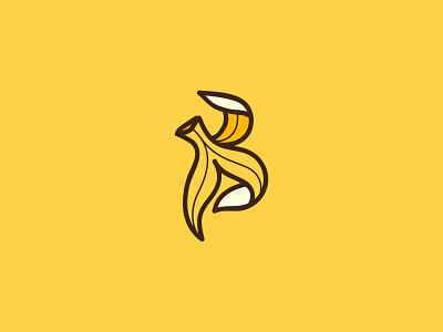 Letter B - Banana logo banana peel peel concept 2021 design simple illustration 2021 debut new popular logomark logotype design logo design yellow banana logo b logo banana logo