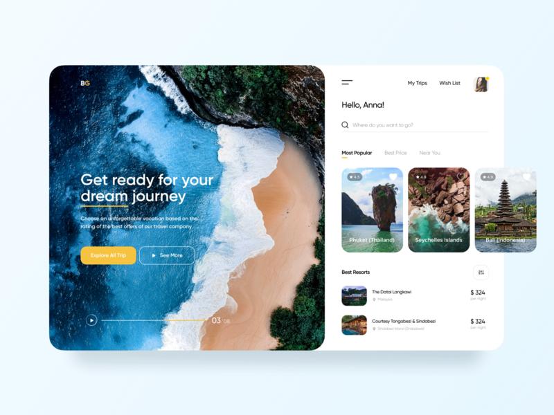 Travel App Dashboard dashboard sign in sign up advertising mobile design web design mobile app travel web travel app