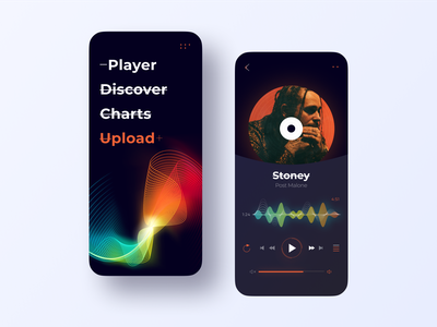 Music Platform. Mobile abstract app design ios app creative illustration minimal ecommerce mobile app music app ui music app music app design music player mobile app design