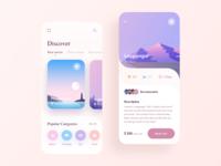 Travel Mobile App - Part 2 travel pastel colors ios app mobile app illustration adventure booking traveling mobile mobile app design travel app
