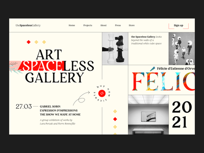 Art Gallery Website minimal sign in sign up monochrome main page home page homepage blackandwhite black  white blackletter art gallery art web design webdesign website