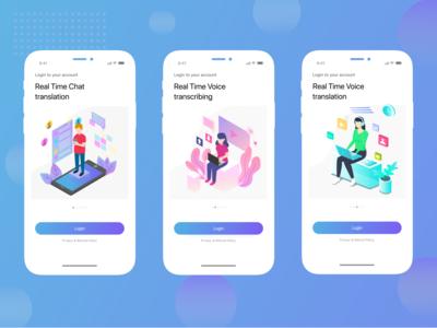 Login screens for Mobile Application