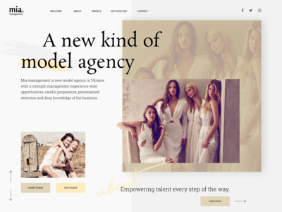 Creative Minimal Fashion Modeling Agency Homepage
