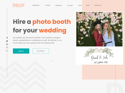 Design for Website Photo Booth Rent