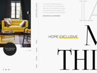 Creative Homepage of Website for Exclusive Furniture Salon