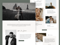 Creative Homepage for Photographer Portfolio Website