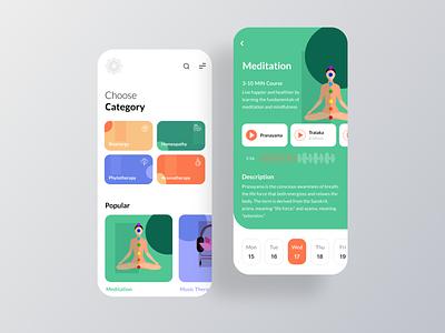 Yoga Life Mobile App mobile design mobile ios app ios ecommerce app concept mobile app music therapy aromatherapy homeopathy bioenergy yoga app yoga meditation