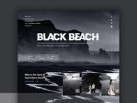 Black Beach Iceland Website