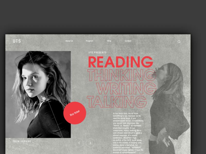 Promotion Website minimal black and white pattern figma webdesign website ui poster fashion ticket layout magazine promotion clean