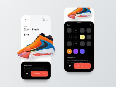 e-Commerce Mobile App fitness app creative ux ui orange sign up login sign in sport sneakers mobile app store app nike air nike ecommerce