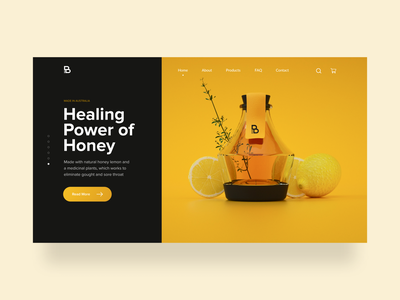 Honey Website web design ux ui homepage present preview product shopping shop store ecommerce honey minimal website clean